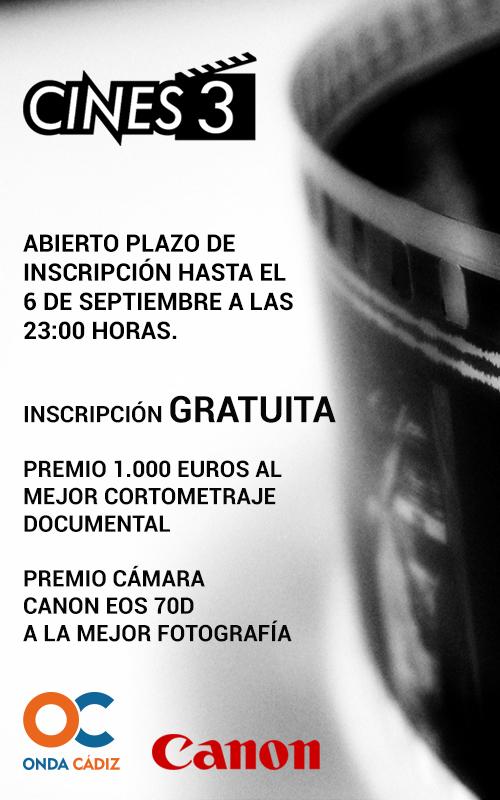 Cines3 Inscripción
