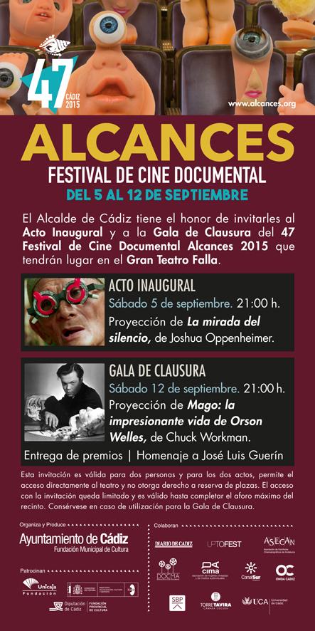 Invitación edicion 47 Festival Cine Documental 2015