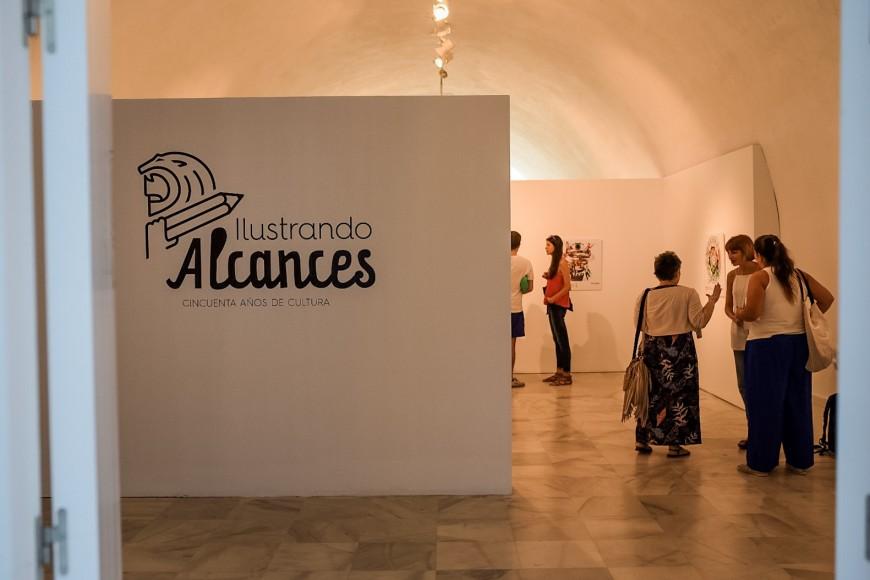 Inauguradas las exposiciones Ilusiones Opticas e Ilustrando Alcances en el Espcaio de Creación Contemporánea