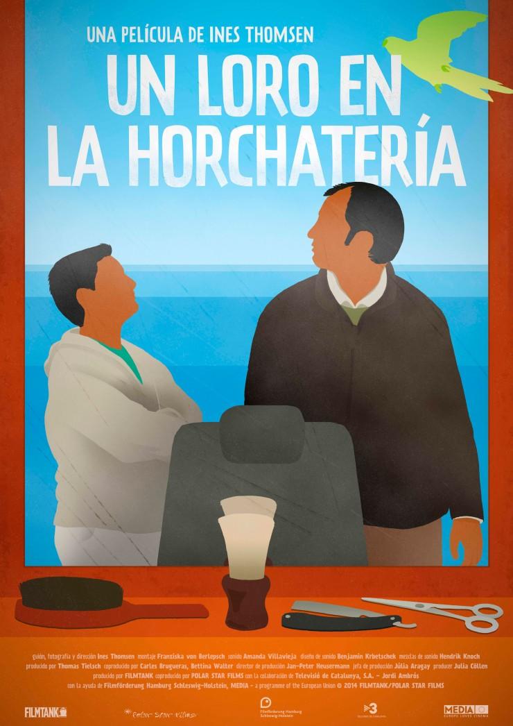 Cartel película Un loro en la horchatería