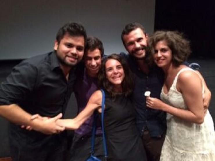 Catarina Brites, Andrés Alonso, Alejandro Cabrera, Lara Curto, Damián Depetris, director película Campanya