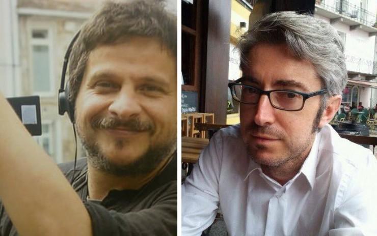 Luis Avilés, César Souto, director película Os días afogados