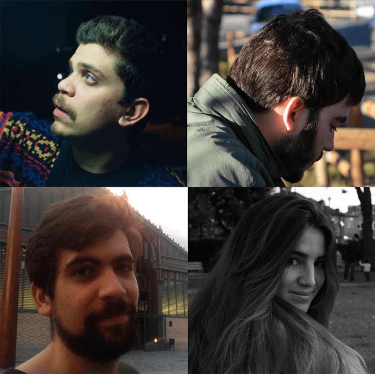 Juan Carrano, Raúl Capdevila, Raúl Egüés y Alejandra Vera, director película Judas