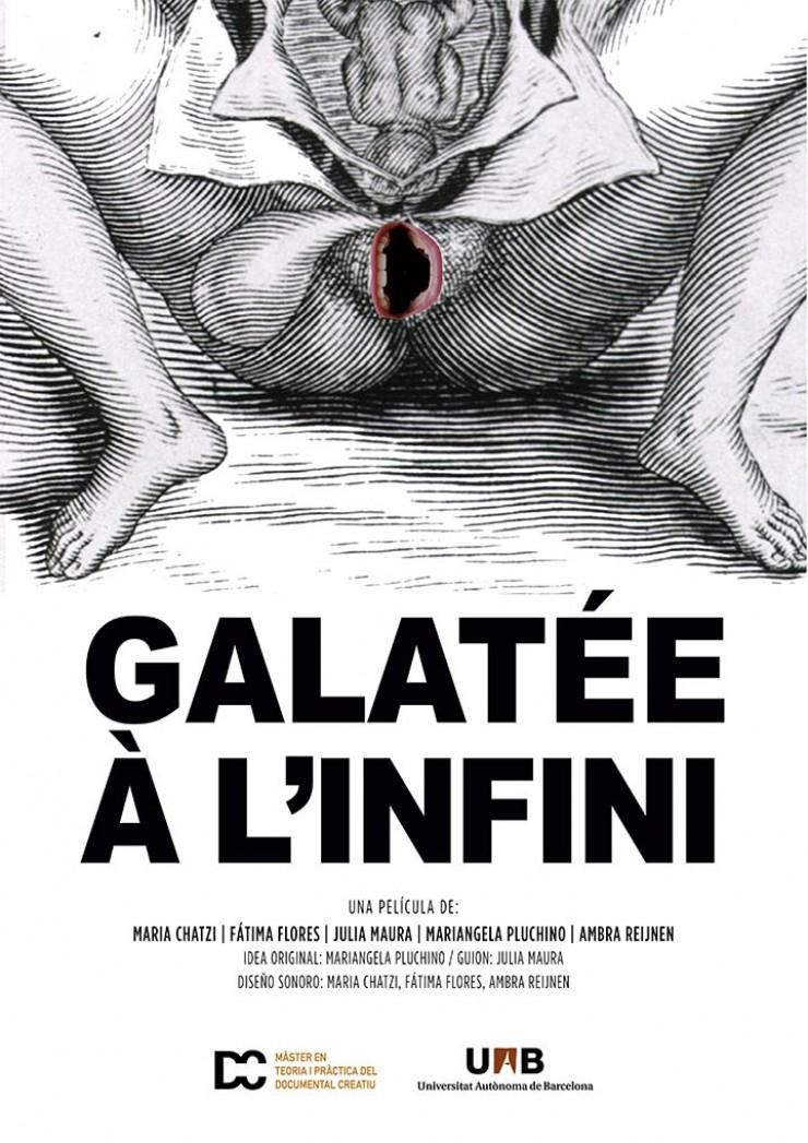 Julia Maura, Mª Ángela Pluchino, Ambra Riejnen, María Chatzi y Fátima Sánchez Rojas, director película Galatée Á L'infini