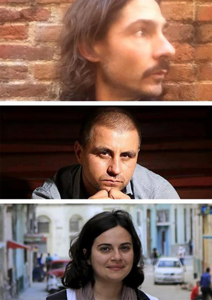 Jesús Labandeira, Rudy Jordán, Sofia Cabanes, director película Nueve días sin Fidel