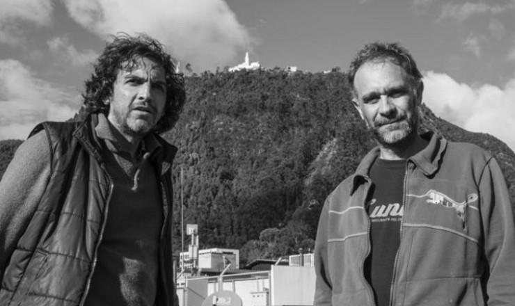 Julio Lamaña y Ricardo Perea, director película Sin título. Tercer Movimiento.