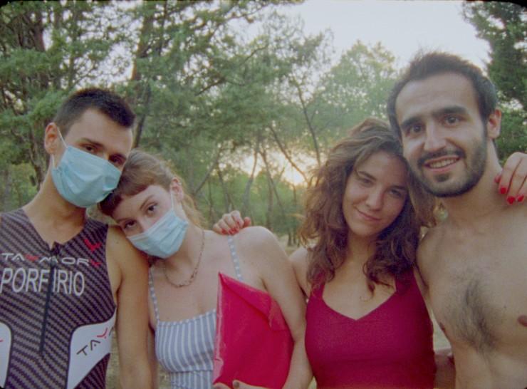 Ignacio Ruiz Gómez, Isabela Bianchi, María Gómez y Pablo Adiego, director película Madrid, mala vida