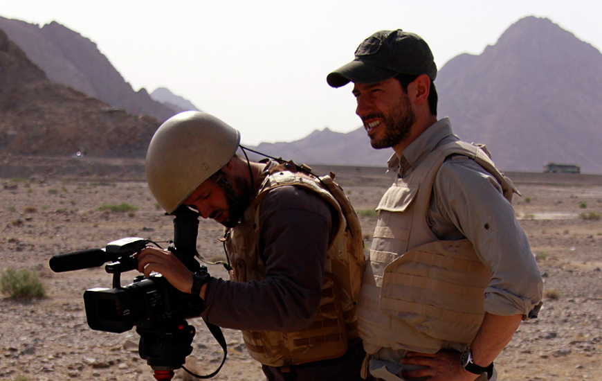 Periodistas a pie de guerra